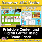 Summer ABC Order Center - Printable and Digital or Distanc