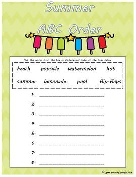 Summer ABC order