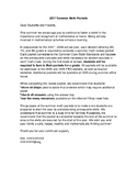 Summer Academic Practice Cover Letter