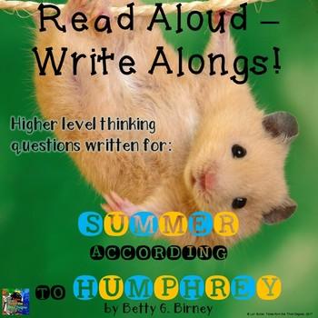 Summer According to Humphrey Read Aloud Write Along