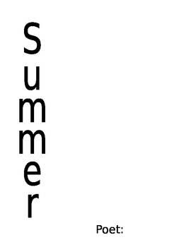 Summer Acrostic Poem Template
