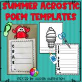Summer Acrostic Poem Templates