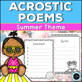 Summer Acrostic Poems Creative Writing Activity