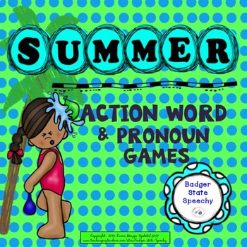 Summer Action Words & Pronouns Games!