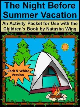 Summer Activities: Night Before Summer Vacation Book Activities