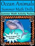 Summer Activities: Ocean Animals Summer Math Drills