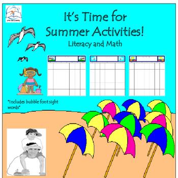 Preschool Summer Packet Teaching Resources | Teachers Pay Teachers