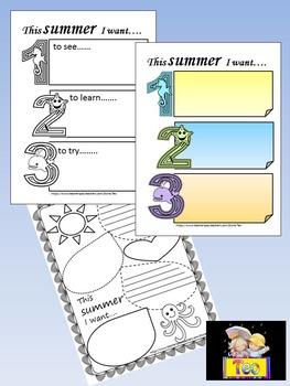 Summer Activities -  Summer writing fun
