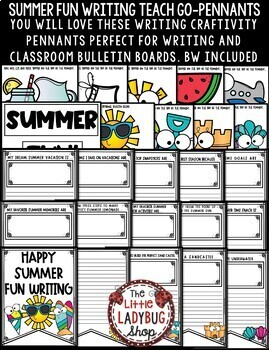Summer Writing Activities 3rd Grade & 2nd Grade- Summer Craftivity Writing