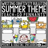 Summer Writing Activities 3rd Grade & 2nd Grade- Summer Writing Bulletin Board