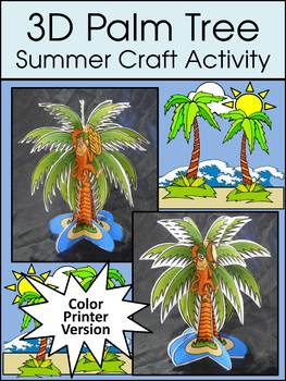 Summer Activities:  3D Palm Tree Summer Craft