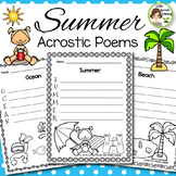 Summer Activities - Acrostic Poems (25 poems to print and go)