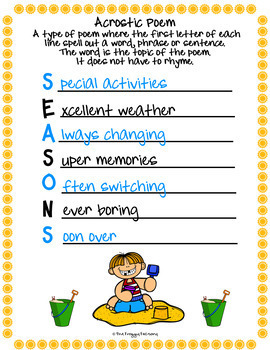 Summer Acrostic Poems