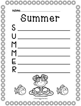 Summer Acrostic Poems (Summer Writing Activity)
