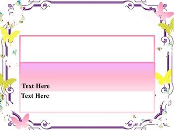 Editable Template - Butterflies