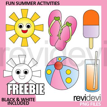 Summer Activities Clip Art Free