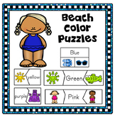 Summer Activities Color Matching Puzzles Beach