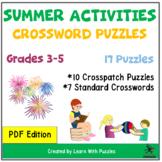 Summer Activities Crosswords Collection - 17 Unique Puzzles