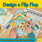 Summer Activity: Flip Flop Art Game, Writing Prompts, & Digital Spinners