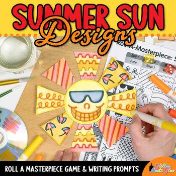 Summer Activities: Design a Sun Art Game, Art Sub Plans, & Writing Prompts