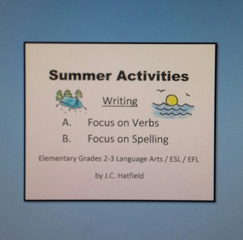 Summer Activities Focus on Writing