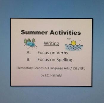Summer Activities Focus on Writing
