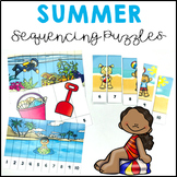 Summer Activities Number Sequencing Puzzles 1 to 20