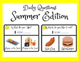 Summer Activities- Question of the Day