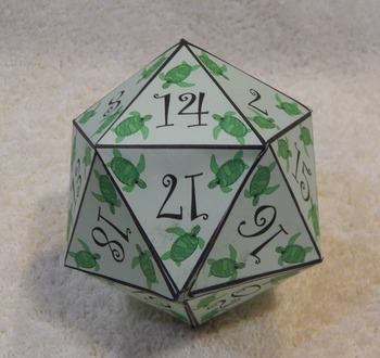 Summer Activities: Sea Turtle Dice Templates