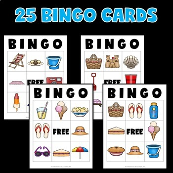 Summer Bingo Game with Pictures
