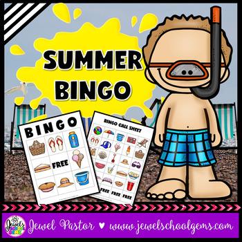 Summer Activities (Summer Bingo Game with Pictures)
