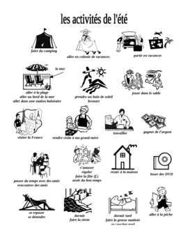 Summer Activities Vocabulary Pages