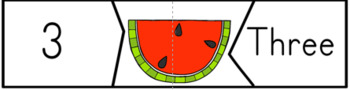 Summer Counting Puzzles Watermelon