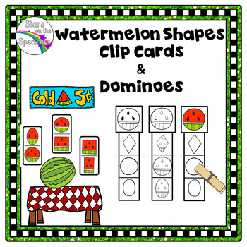 End of Year Activities - Shape Clip Cards and Dominoes