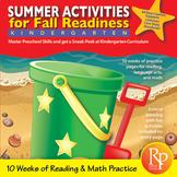 Summer Activities for Fall Readiness (Grade PreK Transitioning to Grade K)