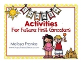 Summer Activities for Future First Graders