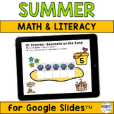 Summer Activities for Google Slides™ : Math and Literacy
