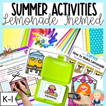 Summer Activities for Kindergarten and First Grade{Lemonade Themed}