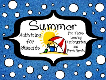 Summer Activities for Students (Common Core & TEKS Aligned)