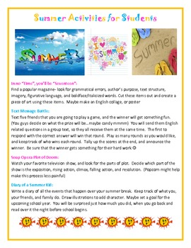 Summer Activities for Students