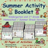 Summer Activity Booklet - 30 pages - Homeschool / Summer B