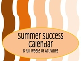 Summer Activity Calendar or Checklist {Grades 2 & 3}