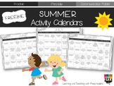 Summer Activity Calendars