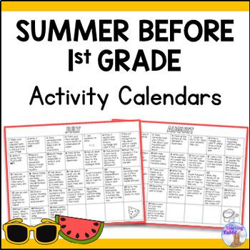 Summer Activity Calendars - First Grade