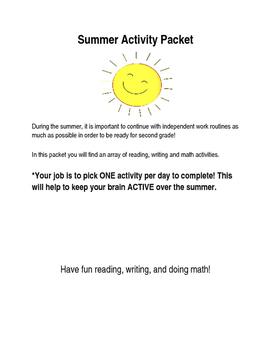 Summer Activity Packet