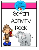 After School Activity Pack - Safari Theme