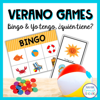 Summer Activity Set - Bingo, Word Search and More Games! {Spanish}
