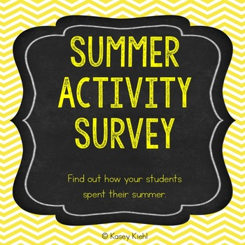 Summer Activity Survey