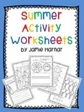 Summer Activity Worksheets