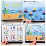 Summer Activity book toddlers, Beach Busy binder preschooler, Cut and glue game
